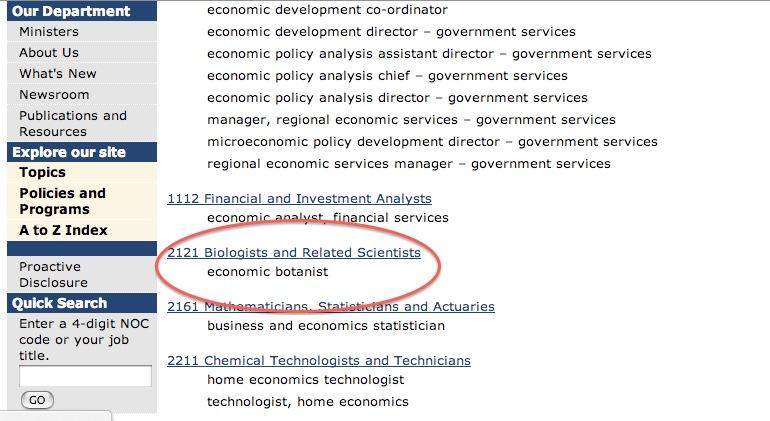 Economic botanist